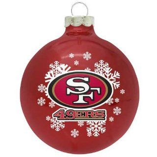 San Francisco 49ers Small Painted Round Christmas Tree