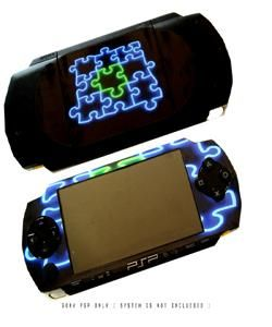 Glow Puzzle Decal Removable Skin Sticker For SONY PSP
