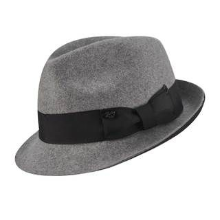 Bailey of Hollywood Mens Grey/ Black Fedora Hat