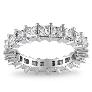 Miadora 18k White Gold 3ct TDW Diamond Eternity Ring (H I, SI1 SI2