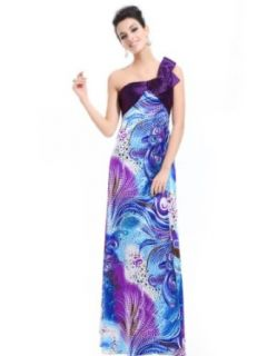 Ever Pretty One Shoulder Ombre Printed Open Back Evening