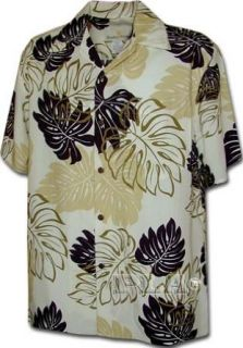 Maui Paradise Rayon Hawaiian Tropical Shirts Cream