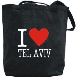Canvas Tote Bag Black  Love Classic Tel Aviv  Israel