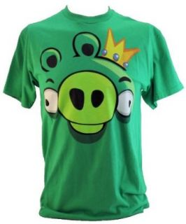 Angry Birds Mens T Shirt   Giant King Pig Face Graphic on