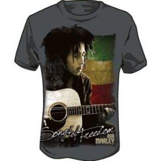 Bob Marley   Songs Adult T Shirt in Charcoal Clothing