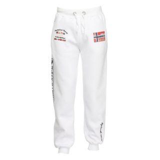 Pantalon de Jogging en molleton blanc, taille élastiquée avec liens