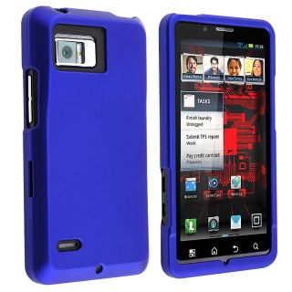 Blue Rubber coated Case for Motorola Droid Bionic XT875