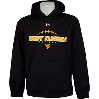 WVU Under Armour Performance Hoody in Black Football Logo
