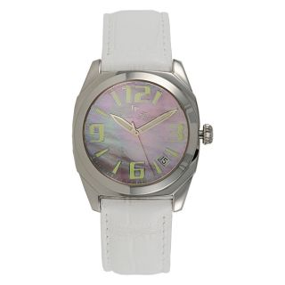 Lucien Piccard Ladies Monaco Collection Stainless Steel White leather