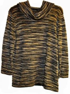 Womens Jones of New York Venezia Sweater Size 1x (Black
