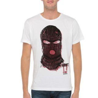 DIESEL T Shirt Mani Homme Blanc   Achat / Vente T SHIRT DIESEL T Shirt