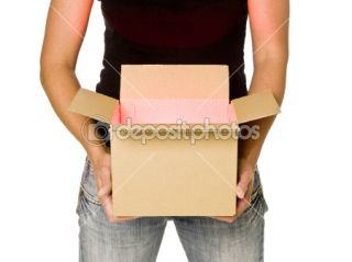 Woman holding a cardboard box  Stock Photo © Lisa Quarfoth #3642707