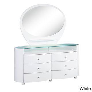 Emily/ Evelyn High Gloss 6 drawer Dresser