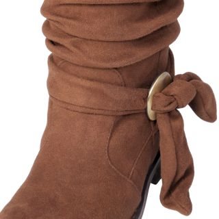 Two Lips Brand Girls TooBootleg Knot Detail Slouchy Mid calf Boot