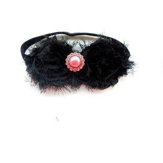 Bow Clippeez 2 Envy Double Shabby Chic Flower Headband