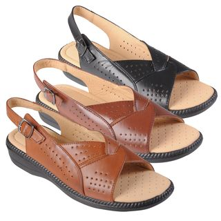 Journee Collection Womens Rosa 5 Open Toe Slingback Sandals