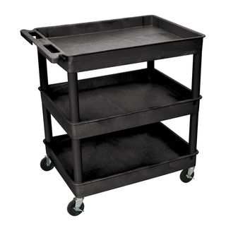 Luxor Black 3 Tub Utility Cart