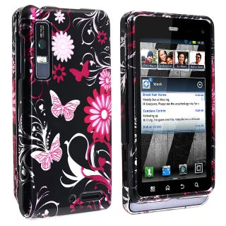 Pink Butterfly Case for Motorola Droid 3 XT862