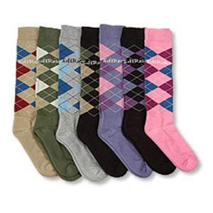 Knee High Riding Socks Lt Gray/Royal/Lt Blue (10039 104) Clothing