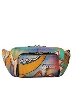 Anuschka Bags HAND PAINTED Fanny Pack 1086AT Clothing