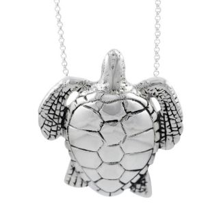Tressa Sterling Silver Large Sea Turtle Necklace