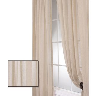 Faux Linen Tumbleweed 120 inch Sheer Curtain Panel