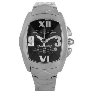 Chronotech Mens Prisma Stainless Steel Black Dial Watch