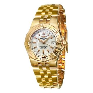 Breitling Womens Windrider Starliner 18k Rose Gold Quartz Watch