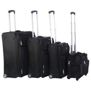 Wenger Lucerne Lite XLT Collection Black 4 piece Luggage Set