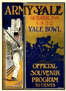1922 Yale Bulldogs vs. Army Black Knights 22 x 30 Canvas