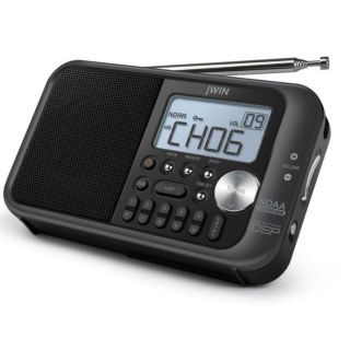 jWin JX M122 AM/FM Weather Band Portable Radio