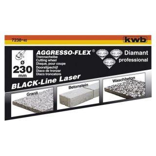 line 125 à segments soudés laser KWB   Disque diamant black line 125