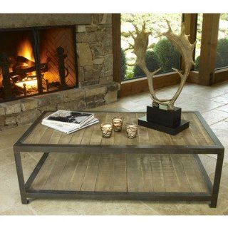 Aspen Rustic Wood Coffee Table Furniture & Decor