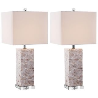Indoor 1 light Homer Sea Shell Table Lamps (Set of 2)