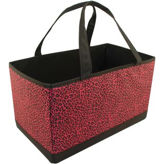 Mackinac Moon Large Yarn Organizer Animal Print Pink/Black