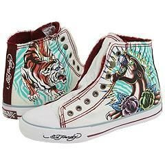Ed Hardy Highrise Sherpa Womens White Shoes