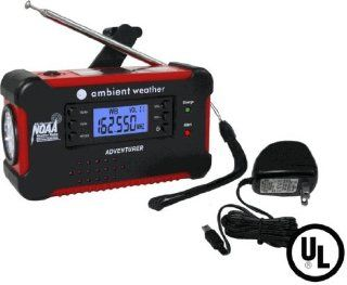 Ambient Weather WR 111 B AC KIT Emergency Solar Hand Crank