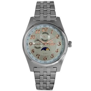 Helbros Mens Casual Light Brown Dial Stainless Steel Watch