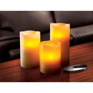Sarah Peyton 3 piece Flameless LED Candle Set with Remote
