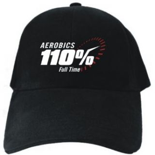 Aerobics 110% FULL TIME Black Baseball Cap Unisex