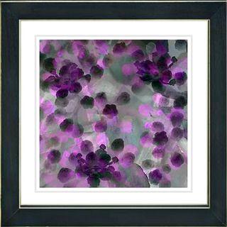 Studio Works Modern Popcorn Floral   Purple Framed Print
