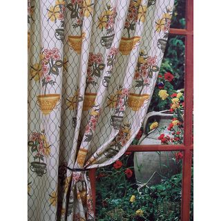 Yellow Flower Pots Curtains (57 in. x 63 in.)