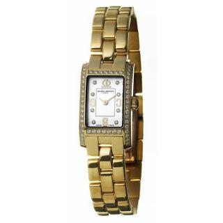 Baume & Mercier Womens Hampton 18k Gold Quartz Diamond Watch