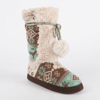 Muk Luks Jewel Highland Nordic Slipper Boot