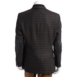 Radley Mens Dark Brown Plaid Blazer