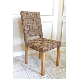 Rica Basket Weave Twisted Banana Chairs (set of 2)