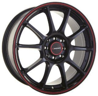 18x9 Konig Zero (Gloss Black w/ Red Stripe) Wheels/Rims 5x114.3