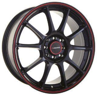 18x9 Konig Zero (Gloss Black w/ Red Stripe) Wheels/Rims 5x114.3