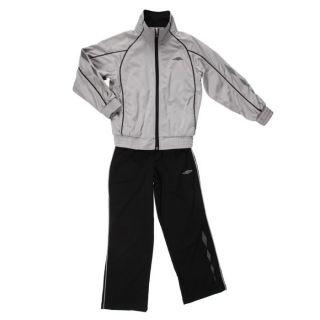 Coloris  noir et gris. Survêtement UMBRO Enfant, 100 % polyester