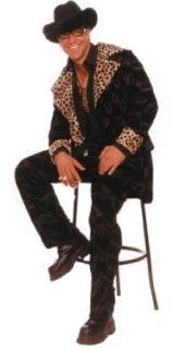 Adult Cheetah Pimp Costume (Size:X Large 42 44): Clothing